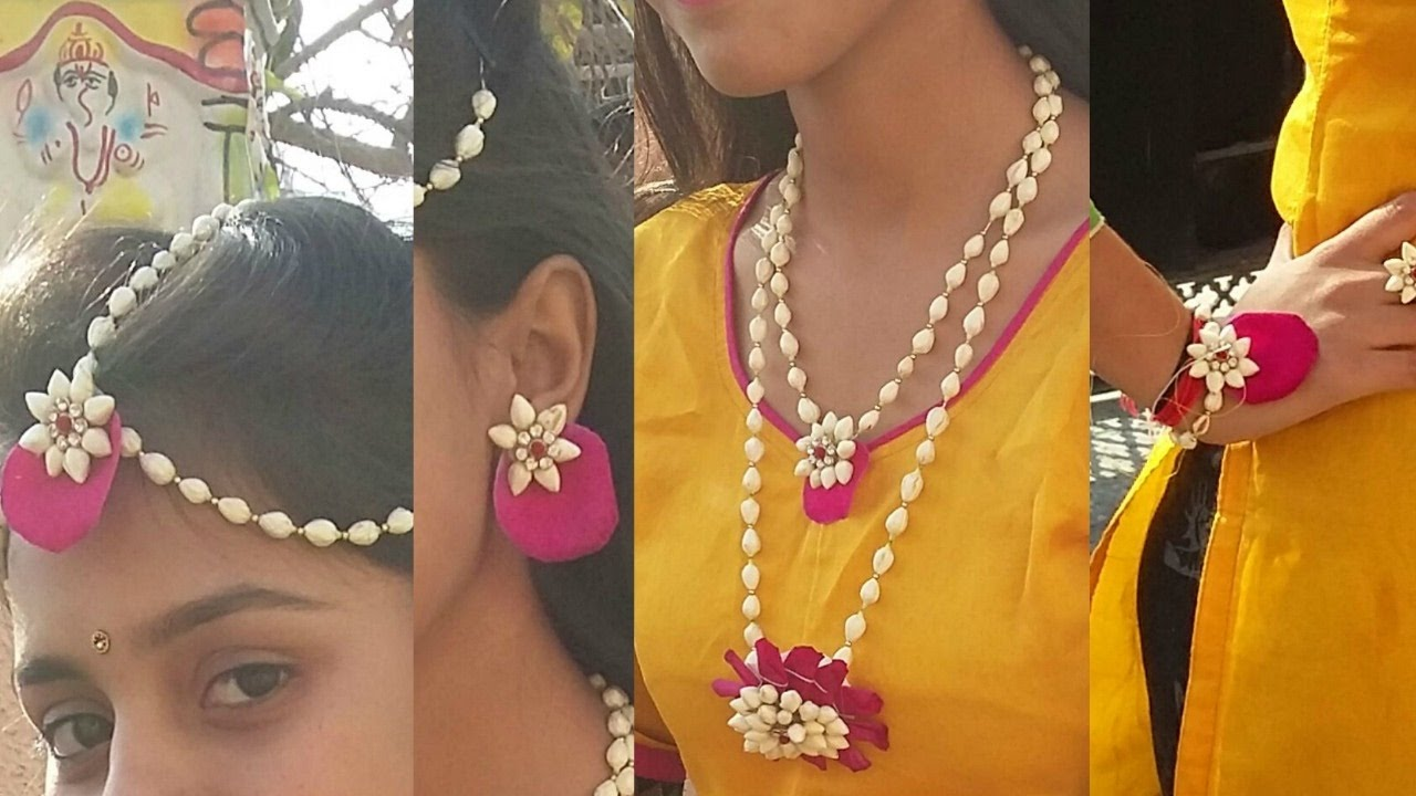 Buy Mehndi Flower Jewellery : How to make real flower jewelry for mehndi and other