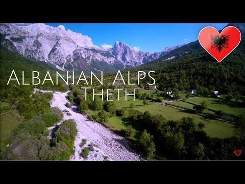 Thethi, Albanian Alps (FromAir) 2017