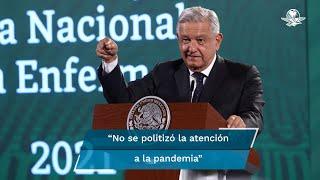 El presidente Andrés Manuel López Obrador dijo que en lo más álgido de la pandemia este sector no se dejó llevar por el canto de las sirenas y no se politizó la atención médica