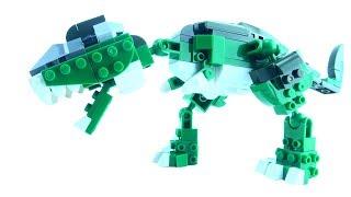 Green Tyrannosaurus Rex - Lego Creator compatible Dinosaur set - Dinosaurs speed build