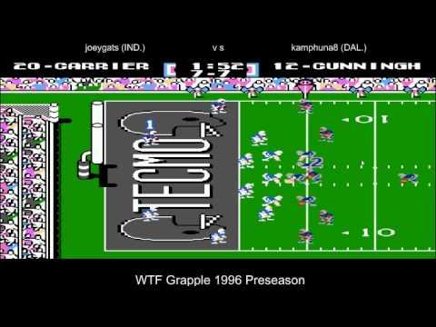 WTF Grapple 1996 Preseason Dallas Cowboys vs Indianapolis Colts (joeygats)