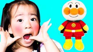 Learn Colors with anpanman dolls ごっこ遊び アンパンマン人形を洗ったよ Pretend Play 子供向け 幼児向け