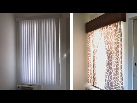 How to make a window cornice or valance