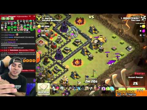 Clash of Clans - Live Glitch on Queen AI