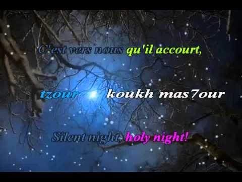 Silent Night - Douce Nuit - Animated Christmas Karaoke
