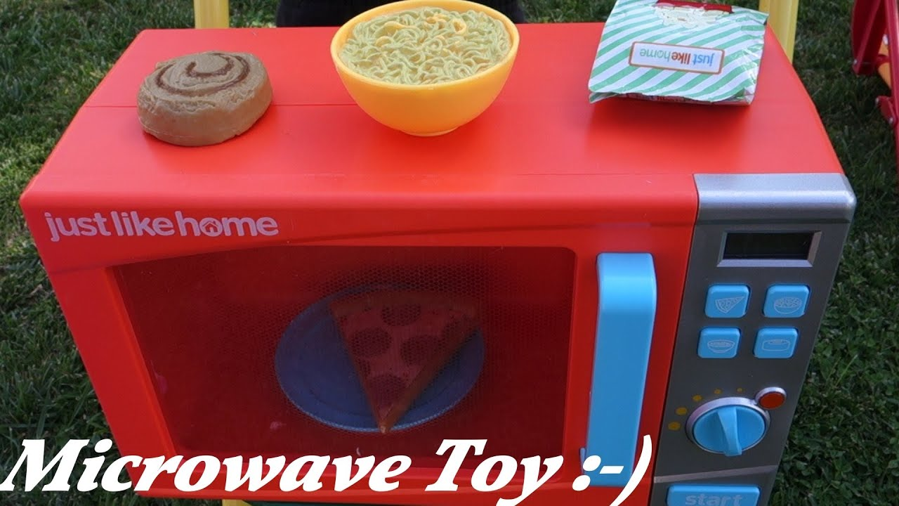 Cooking Kitchen Toys for Girls Maya s Microwave Oven Toy Unboxing