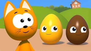 Учим цвета и цифры - Котэ представляет большой сборник - Игры мультфильмы для детей малышей