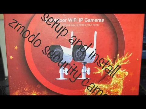 HOW TO SETUP & INSTALL ZMODO WIFI SECURITY CAMERAS - YouTube