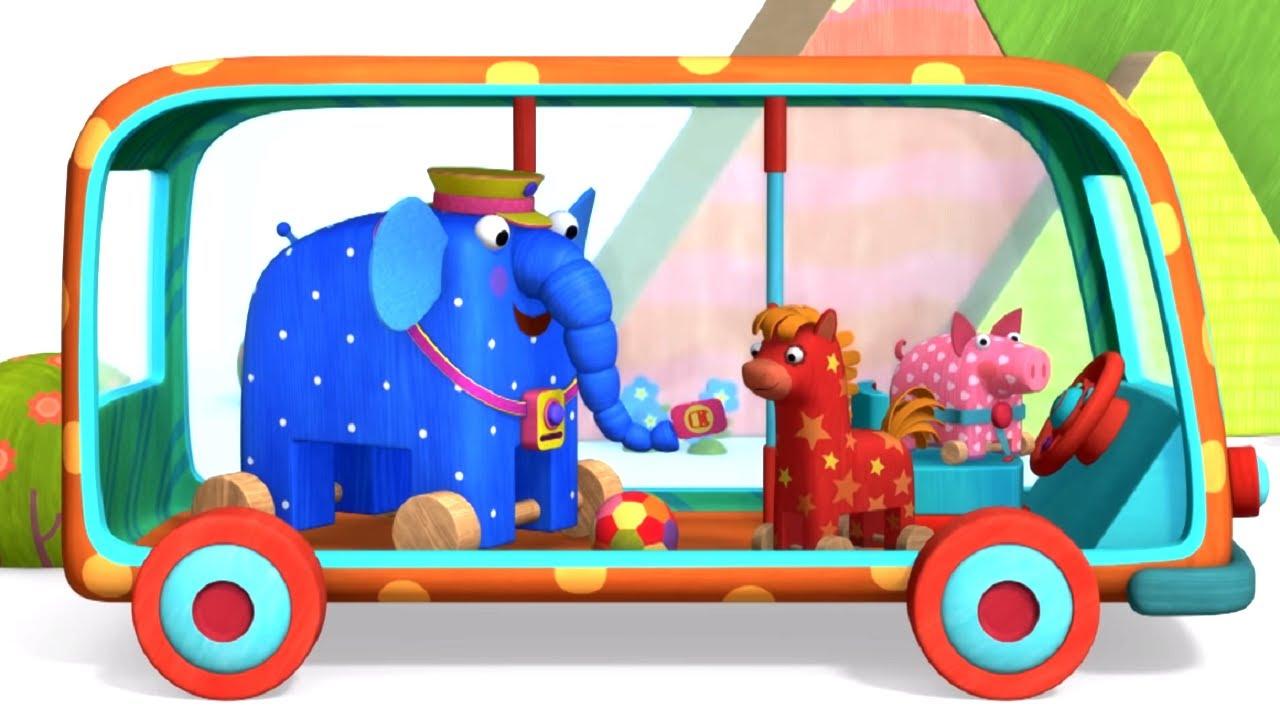Деревяшки - Серия 89 - Автобус - новый развивающий познавательный мультик для малышей