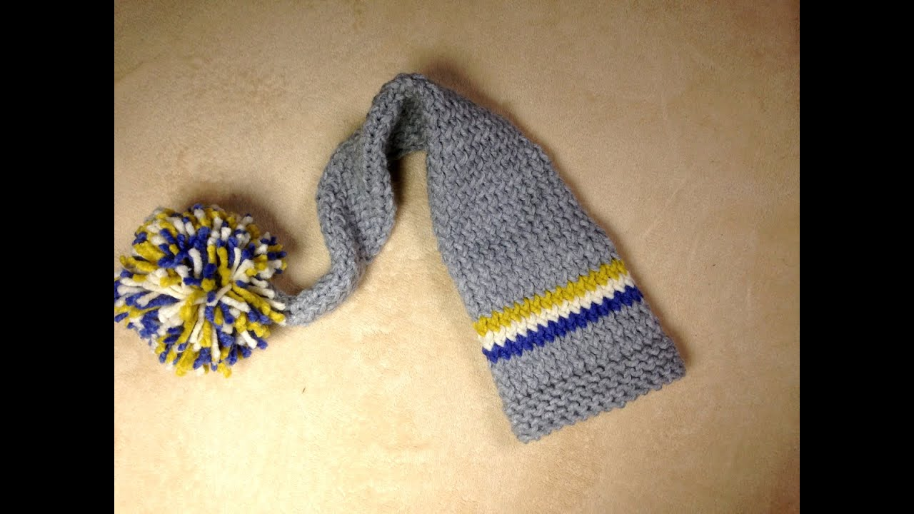 Cómo tejer en telar un gorro tipo duende para bebé (Tutorial DIY ...