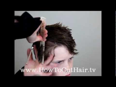 How To Cut Boys Hair Long Layer Haircut Razor Cut YouTube - Boy haircut razor