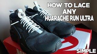 HOW TO LACE ANY HUARACHE! HUARACHE RUN ULTRA LACING TUTORIAL!