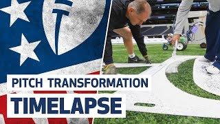 NFL PITCH TRANSFORMATION AT TOTTENHAM HOTSPUR STADIUM