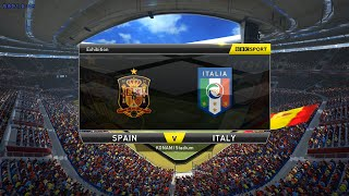 PES2015 Spain vs Italy Entrance scene with National Anthems