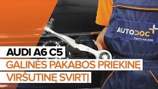 Kaip pakeisti Vikšro Valdymo Svirtis AUDI e-tron Sportback (GEA) - vaizdo vadovas