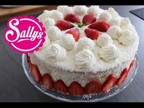 Muttertagstorte Erdbeer Kokos Torte Mothers Day Torte Zum