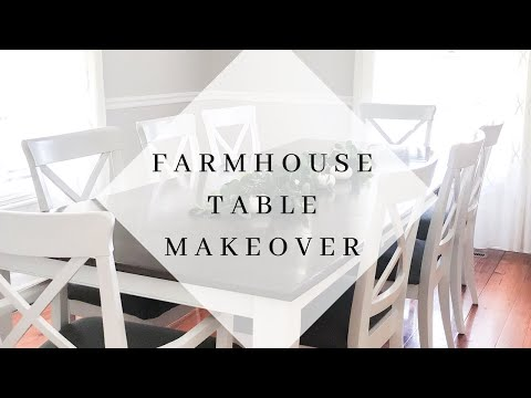 DITL Vlog | DIY Modern Farmhouse Table Makeover