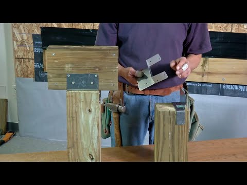 Options for Fastening Beams to Deck Posts