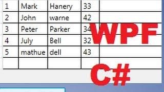 На C# в WPF підручник, 17 - показати значення в базі даних в таблиці або DataGrid