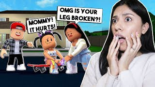 MY DAUGHTER BROKE HER LEG SKATEBOARDING! - Roblox Roleplay - Bloxburg