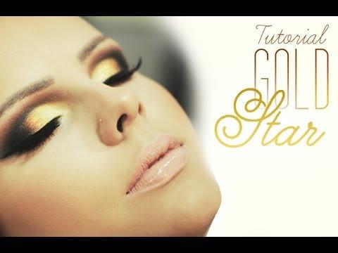 và deo de maquiagem tutorial make gold star youtube