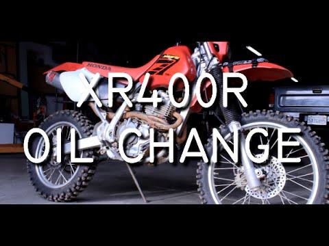 Honda XR400R Oil Change with Frame Screen on