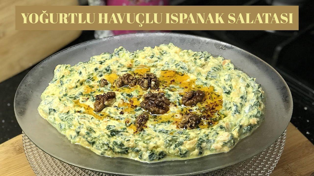 Yoğurtlu Ispanak Salatası Tarifi Videosu 98