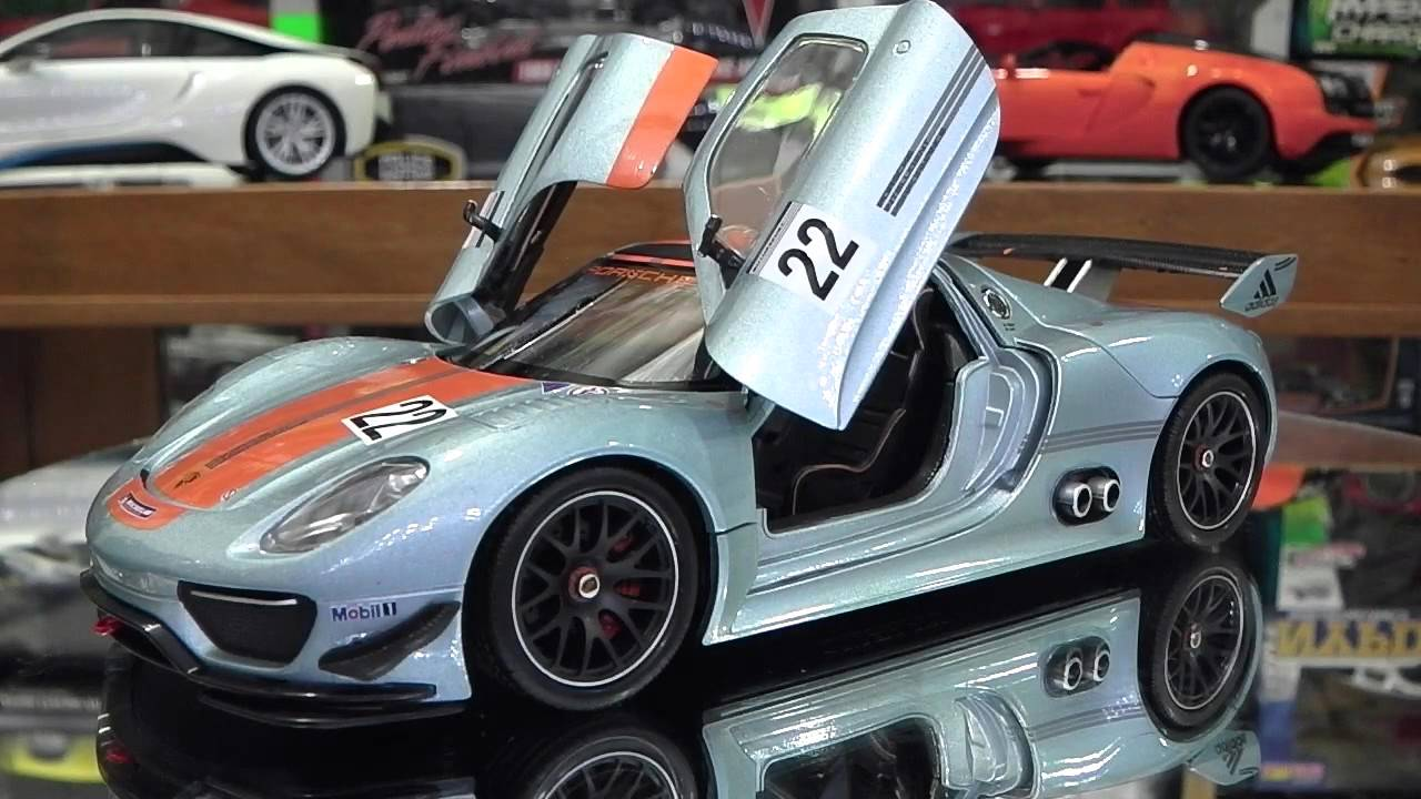 revisi n 1 24 porsche 918 spyder porsche 918 rsr de welly youtube. Black Bedroom Furniture Sets. Home Design Ideas