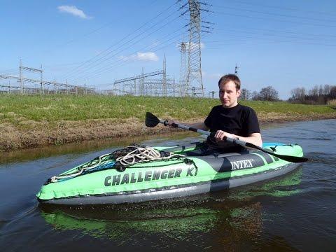 Mit einem Kanu auf der Hase in Osnabrück