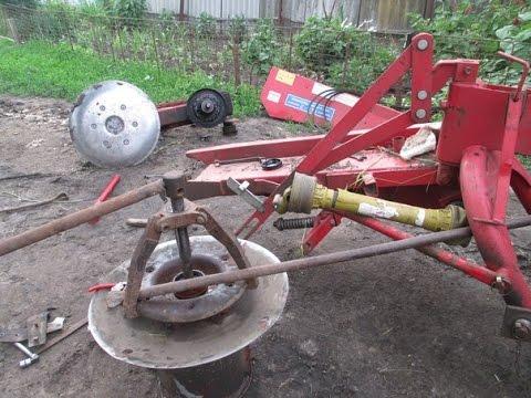 Как разобрать польскую роторную косилку