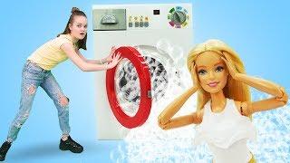 Куклы Барби: играем в прачечную. Видео для девочек - Будет исполнено