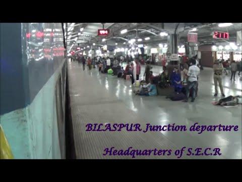 Departing BILASPUR Junction (Headquarters of S.E.C.R):Indian Railways!!