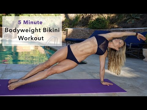 5 Minute Fat Burning Bikini Workout #83