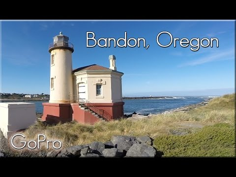 Bandon, Oregon. The Town and beaches.