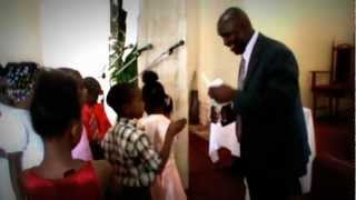 Reverend Oral Samuel: The Children of Newport Open Bible Church, Mandeville Jamaica W I