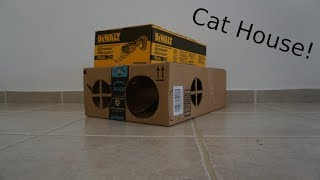 DIY Cat House - Made From Recycled Cardboard! (Part1)