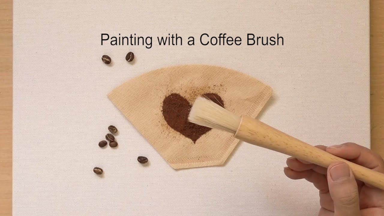 How to draw a tree using a coffee brush / Quick painting idea