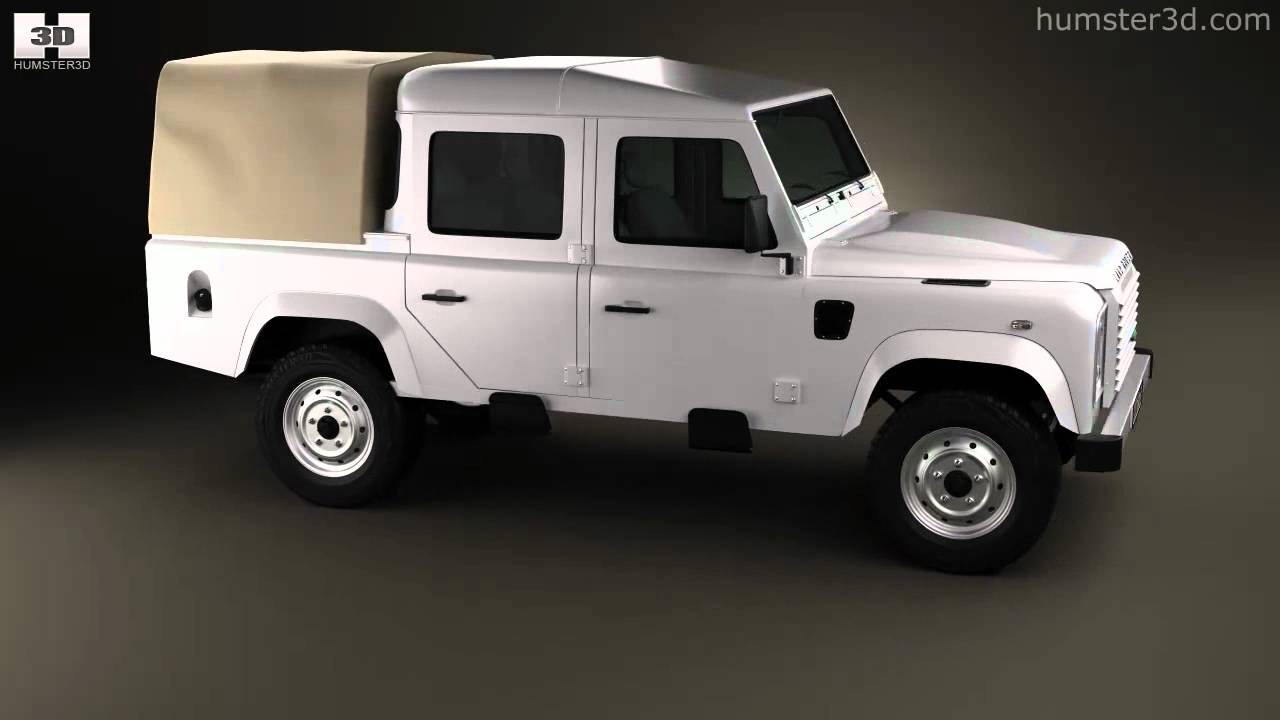 Land Rover Defender 110 Double Cab Pickup 2011 By 3d Model