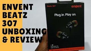 Envent Beatz 307 ET-EPIE307 BK Wired Earphones with Mic (Black)  Unboxing