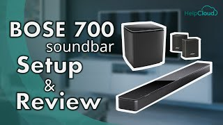 Bose 700 Soundbar Setup and Review (w/ subwoofer and surround speakers) / Top Soundbars for 2020