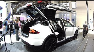 Tesla Model X 2016, 2017 SUV interior, exterior Beijing Auto Show, Tesla Model X 2016, 2017