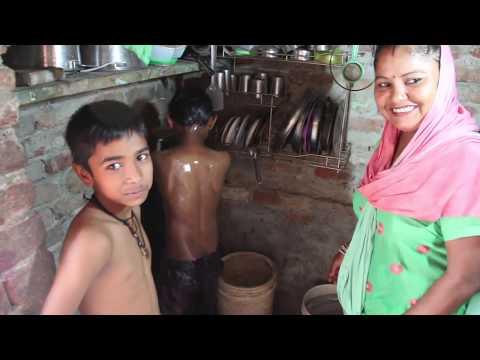 Visiting a SLUM HOME in INDIA (Delhi)