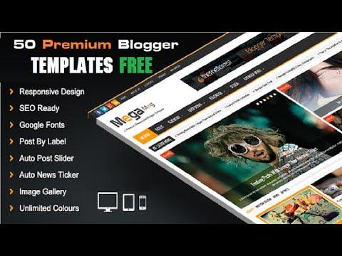 50 قالب إحترافي لمدونة بلوجر مجانا Premium Blogger Templates Free
