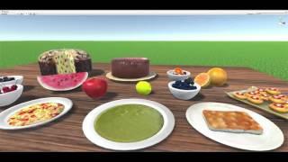3D Models Tasty Meals and Food! 100+ Realistic 3D Models PACK Games ( Unity 3D)