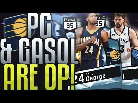 NBA 2K17 MYTEAM DIAMOND PAUL GEORGE & MARC GASOL GAMEPLAY! IS 2K TRYING TOO BREAK THE GAME!?