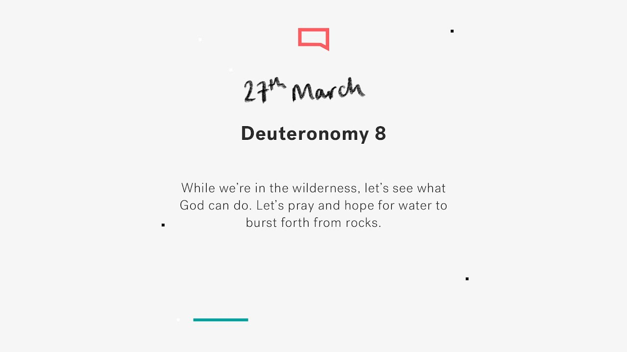 Daily Devotions // Deuteronomy 8 Cover Image
