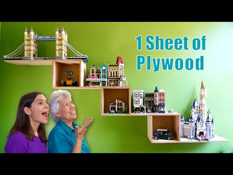 One Sheet of Plywood Floating Shelf