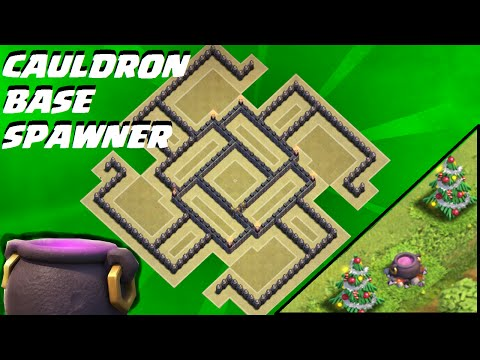 Clash Of Clans - How to get (HALLOWEEN CAULDRON) TH9 Cauldron Base SPAWNER   Town Hall 9   NEW 2015