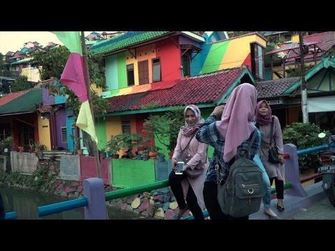 Indonesia's 'rainbow village' is internet sensation