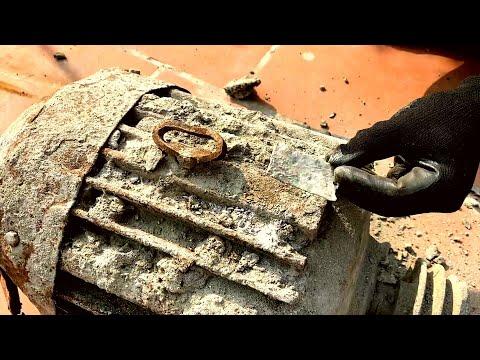 Restoration Old 3 Phase Crane Motor | Restore Motor Of Burnt Construction Crane